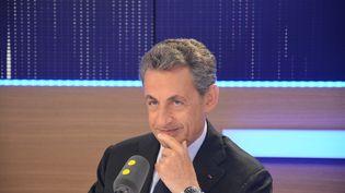 Nicolas Sarkozy sur franceinfo le 2 novembre 2016 (Jean-Christophe Bourdillat / Radio France)