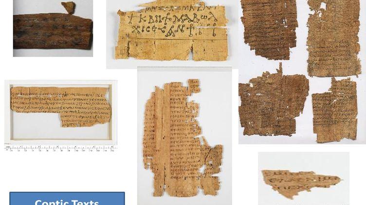 Collage de photos de certaines pièces antiques récupérées par l'Égypte, réalisé par le ministère égyptien du Tourisme et des Antiquités, publié le 27 janvier 2021 (EGYPTIAN MINISTRY OF ANTIQUITIES / AFP)