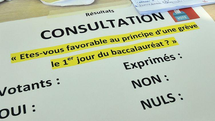 Le Snes a mené une consultation interne à propos de cette grève (photo d'illustration). (THIERRY BORDAS / MAXPPP)