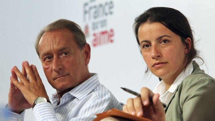 Le maire PS de Paris, Bertrand Delanoë, et la secrétaire nationale d'Europe Ecologie-Les Verts, Cécile Duflot, le 29 août 2009 à La Rochelle (Charente-Maritime). (STEPHANE MAHE / REUTERS)
