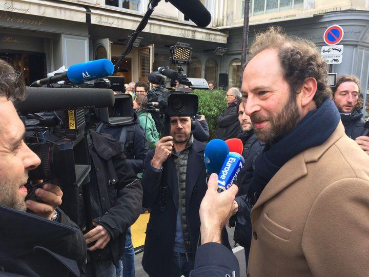 Olivier Guez Prix Renaudot, à son arrivée au Drouant  (Laurence Houot / Culturebox)