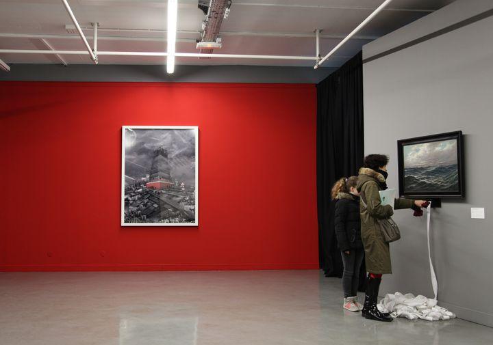 La Valeur de l'art, deChrista Sommerer et Laurent Mignonneau, exposée à la Maison populaire de Montreuil (Seine-Saint-Denis) du 15 janvier au 4 avril 2015. (AURELIE CENNO)