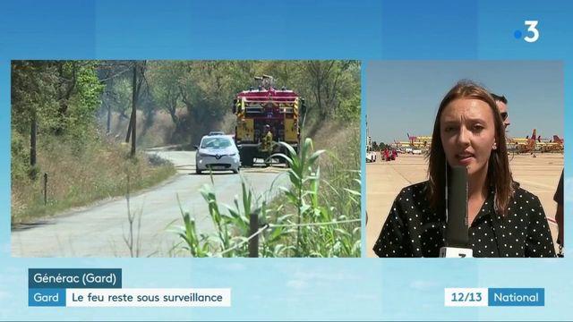 Incendies dans le Gard : les pompiers sur le qui-vive