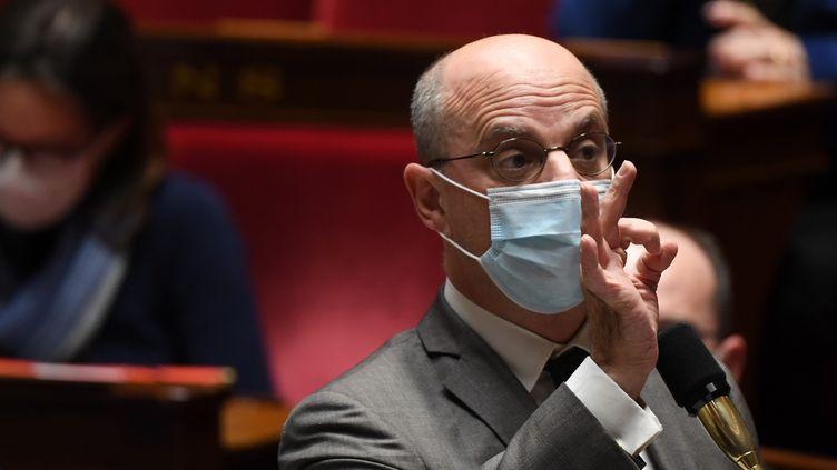 Le ministre de l'Éducation, Jean-Michel Blanquer, à l'Assemblée nationale le 1er décembre 2020. (ALAIN JOCARD / AFP)