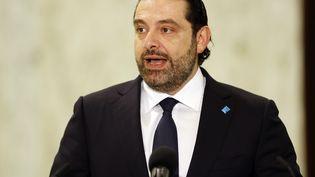 Le Premier ministre libanais, Saad Hariri, le 3 novembre 2016, au palais présidentiel de Baadba, près de Beyrouth. (ANWAR AMRO / AFP)