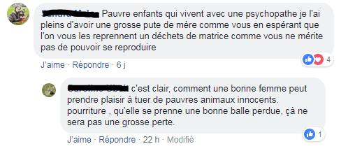 Capture d'écran de messages reçus sur Facebook par Isabelle Méziéres sous la photo de son fils. (FACEBOOK)