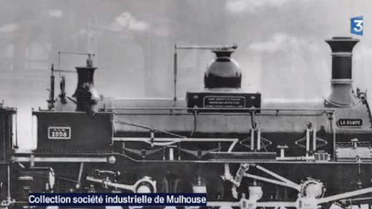 La première locomotive fabriquée par Alsthom, en Alsace. ( FRANCE 3 / FRANCETV INFO)