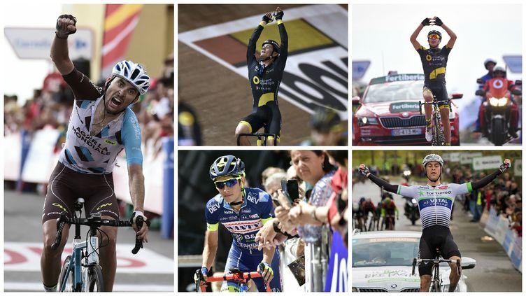 Pierre Latour, Thomas Boudat, Lilian Calmejane, Guillaume Martin et Elie Gesbert représentent l'avenir du cyclisme français.