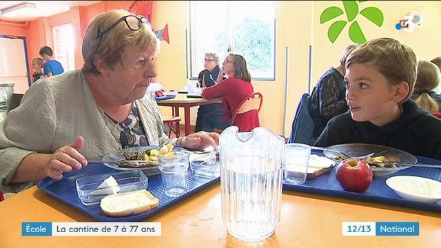 Nord : une cantine intergénérationnelle entre seniors et écoliers