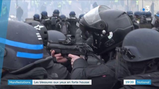 Manifestations : hausse confirmée des blessures aux yeux