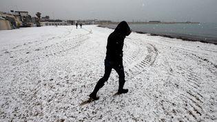 Le frond de mer à Marseille (Bouches-du-Rhônes), le 21 mars 2018. (BORIS HORVAT / AFP)