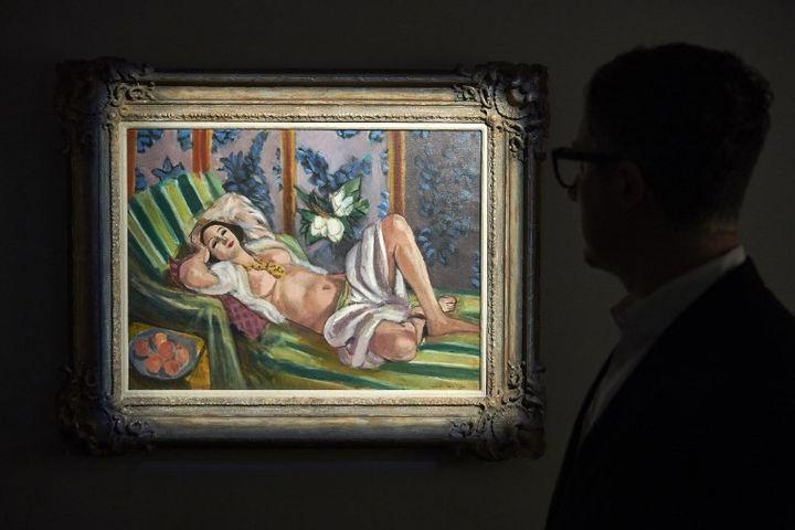 """""""Odalisque couchée aux magnolias"""", Henri Matisse, 1923  (NIKLAS HALLE'N / AFP)"""