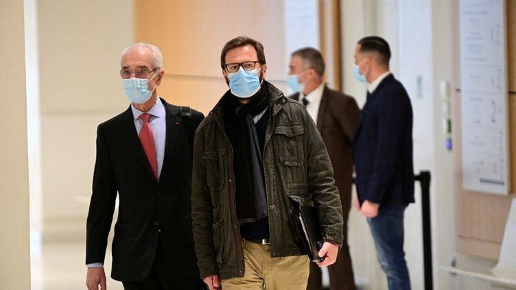 L'ancien directeur-adjoint de la campagne de Nicolas Sarkozy, Jérôme Lavrilleux, le 17 mars 2021 à Paris. (MARTIN BUREAU / AFP)