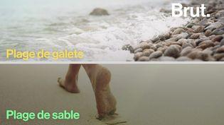 VIDEO. Quelle est la différence entre une plage de sable et une plage de galets ? (BRUT)