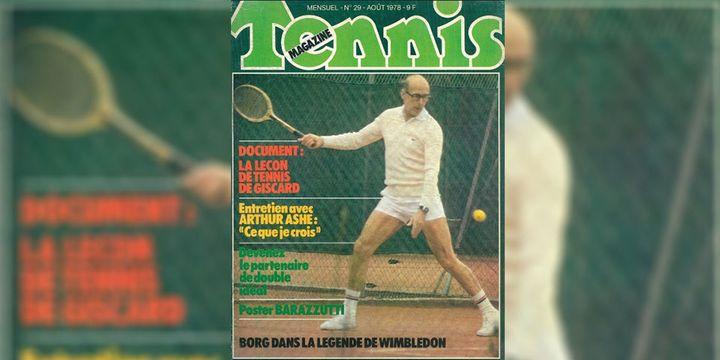 Valéry Giscard D'Estaing, en Une de Tennis Magazine, en août 1978