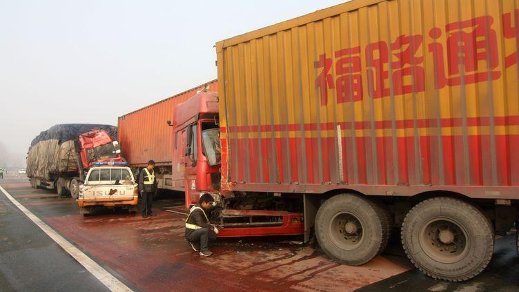 Un accident de la route meurtier en Chine en 2011 (CHINAFOTOPRESS/XIONG XIONG / MAXPPP)
