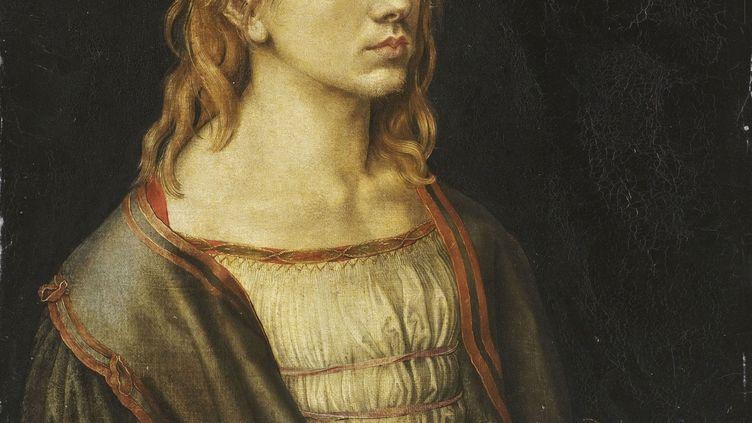 """Albrecht Dürer, """"Portrait de l'artiste tenant un chardon"""", 1493 ( détail), Paris, musée du Louvre, département des peintures (© RMN-Grand Palais (musée du Louvre) / Thierry Olivier)"""