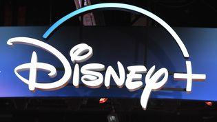 Le logo Disney + au D23 expo àAnaheim (Californie), en 2019. (ROBYN BECK / AFP)