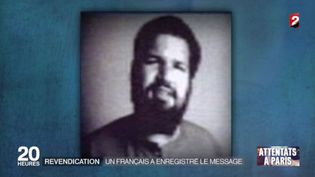 Fabien Clain, le Français soupçonné d'avoir enregistré le message du groupe Etat islamique qui revendique les attentatsdu 13 novembre. (FRANCE 2)