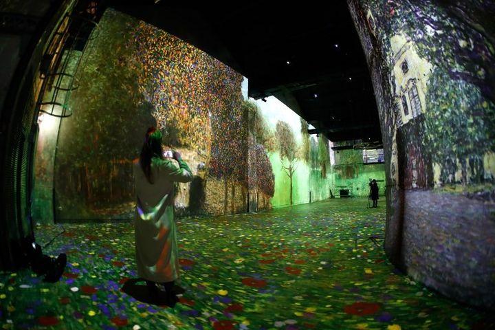 Exposition Klimt à l'Atlelier des lumières (2018)  (FRANCOIS GUILLOT / AFP)