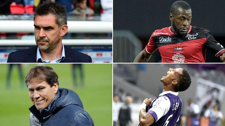 Jocelyn Gourvennec, Rudi Garcia, Yannis Salibur et Christopher Jullien, hommes à suivre durant les 16e de finale de la Coupe de la Ligue