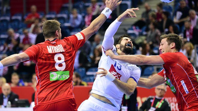 Nikola Karabatic (2/6 aux tirs) n'a pas réussi à peser sur la rencontre (ATTILA KISBENEDEK / AFP)