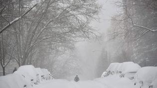 Mais cette tempête a aussi paralysé les transports, à Washington d'abord, puis à New York. (MANDEL NGAN / AFP)