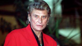 Johnny Halliday à Cannes le 31 janvier 1995  (Patrick Hertzog / AFP)