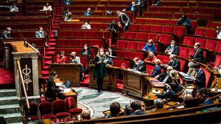 L'Assemblée nationale, lors d'une session de questions au gouvernement, le 25 mai 2021. (XOSE BOUZAS / HANS LUCAS)