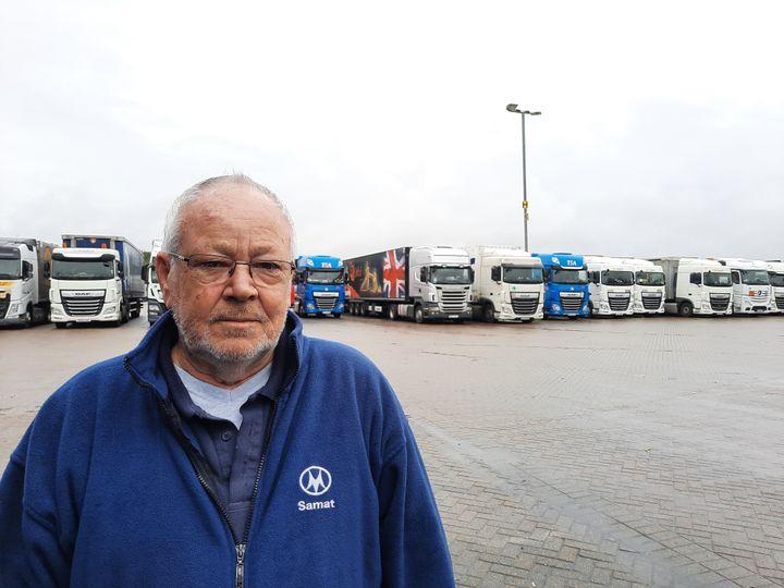Brian Jones, chauffeur routier gallois. (RICHARD PLACE / RADIO FRANCE)