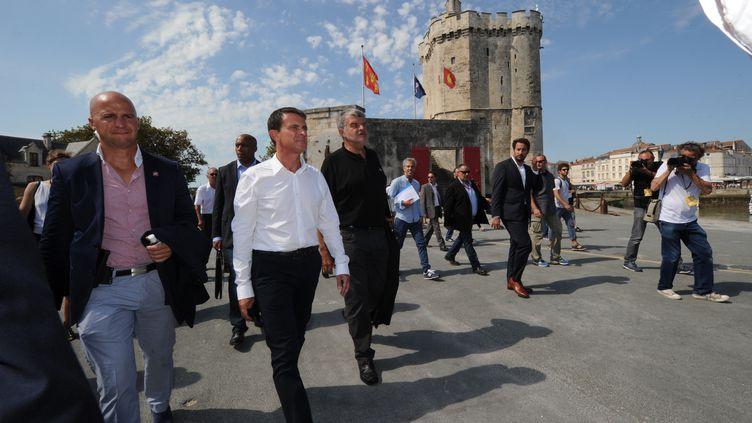 Le Premier ministre, Manuel Valls, à La Rochelle lors de l'université du PS, le 29 août 2015. (MEHDI FEDOUACH / AFP)