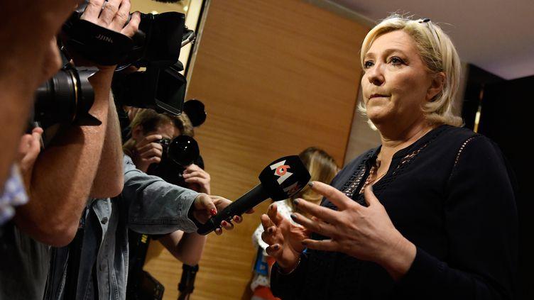 Marine Le Pen à l'Assemblée nationale, le 23 juillet 2018, à Paris. (GERARD JULIEN / AFP)