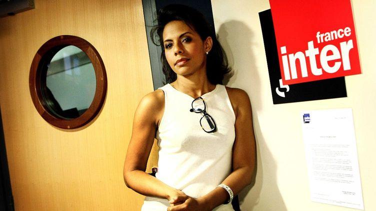 La journaliste Audrey Pulvar le 15 juillet 2010 dans les locaux de France Inter à Paris. (MEIGNEUX / SIPA)