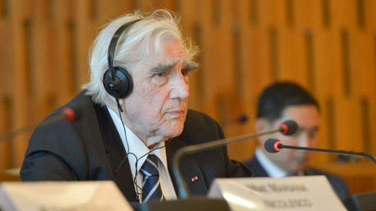 Jean Malaurie lors d'une conférence à l'UNESCO en juin 2015.  (Harsin / Sipa)