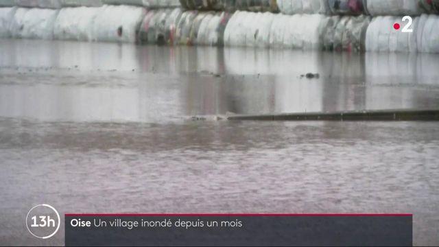 Oise : un village inondé