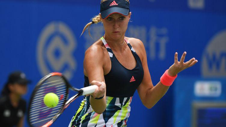Kristina Mladenovic est en finale du tournoi de Hong-Kong (GREG BAKER / AFP)