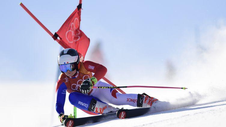La Française Tessa Worley lors de l'épreuve du slalom géant des Jeux olympiques de Pyeongchang, le 15 février 2018. (JAVIER SORIANO / AFP)