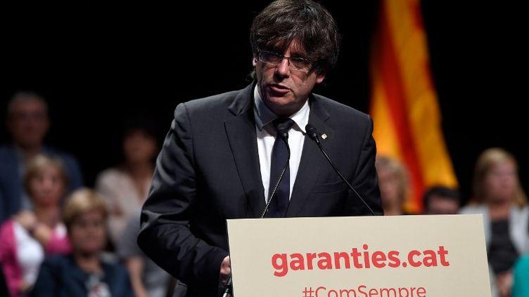 Le président séparatiste Carles Puigdemont. (LLUIS GENE / AFP)