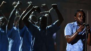 Kendrick Lamar aux derniers Grammy Awards  ( SIPANY/SIPA)