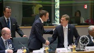 Emmanuel Macron se rend en Suède. (FRANCE 2)