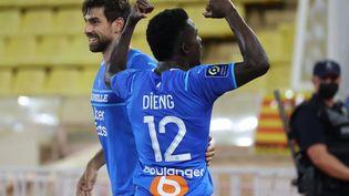 Bamba Dieng a ouvert le score face à l'AS Monaco. (VALERY HACHE / AFP)