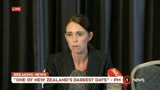 Jacinda Ardern lors d'une conférence de presse à Wellington, le 15 mars 2019. (REUTERS)