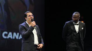 L'acteur et humoristeBrahim Bouhlel, lors du festival Canneséries, le 14 octobre 2020 à Cannes (Alpes-Maritimes). (VALERY HACHE / AFP)