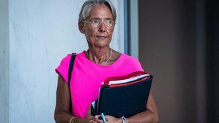 La ministre du Travail, Elisabeth Borne, le 8 septembre 2021 à l'Elysée. (XOSE BOUZAS / HANS LUCAS / AFP)