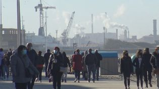Dunkerque (Nord), quelques heures avant la mise en place d'un nouveau confinement le week-end, vendredi 26 février 2021. (GILLES GALLINARO / RADIO FRANCE)