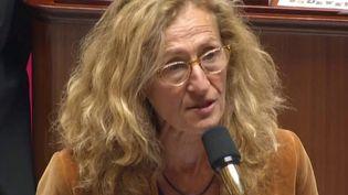 Nicole Belloubet à l'Assemblée, mardi 10 septembre 2019. (FRANCEINFO)