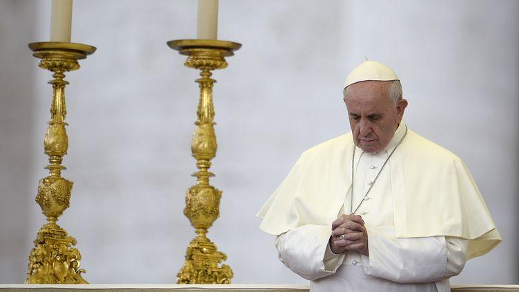 Le pape François au Vatican, le 7 septembre 2013. (FILIPPO MONTEFORTE / AFP)