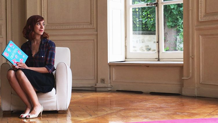Pénélope Bagieu, dans les salons de la maison d'édition Gallimard  (Laurence Houot / Culturebox)