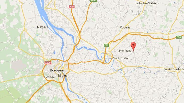 La commune de Puisseguin où l'accident s'est déroulé se trouve à l'est de Bordeaux (Gironde). ( GOOGLE MAPS)