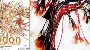 Odon. Orient–Occident, kraft peint et tressé, 1996-97 (à droite)  (DR)